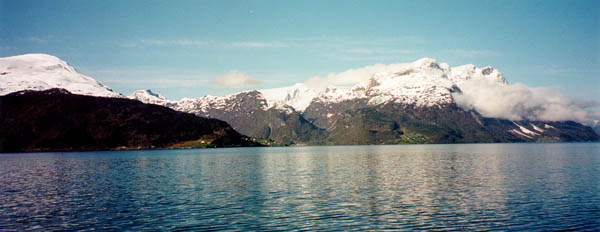 The view across a fjord