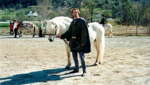 The Viking and his yellow dun