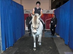 In the staging area just before going into the ring with Gunnar from the CFHA and Catherine from the OEF
